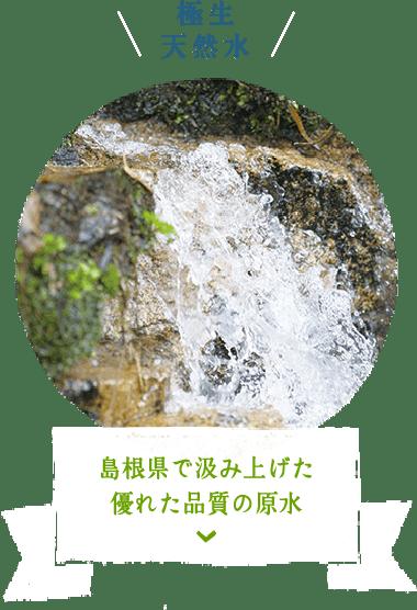 極生天然水 島根県で汲み上げた優れた品質の原水